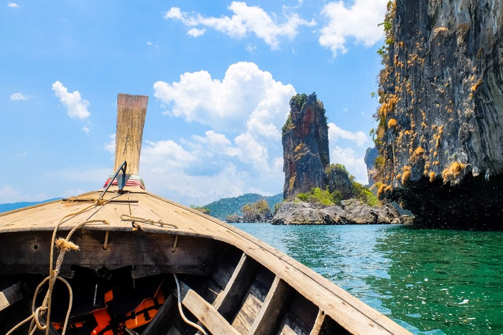 A boat ride from Railay to Ao Nang