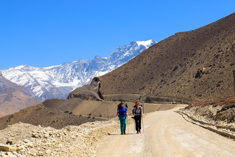 Hiking near Muktinath