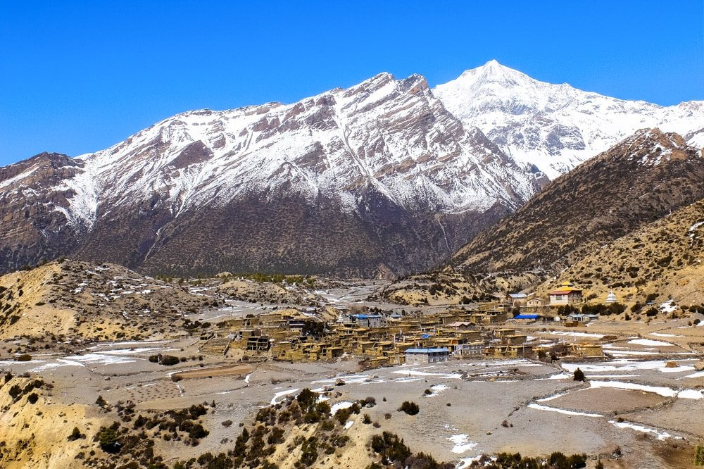 Mountain village on Annapurna Circuit