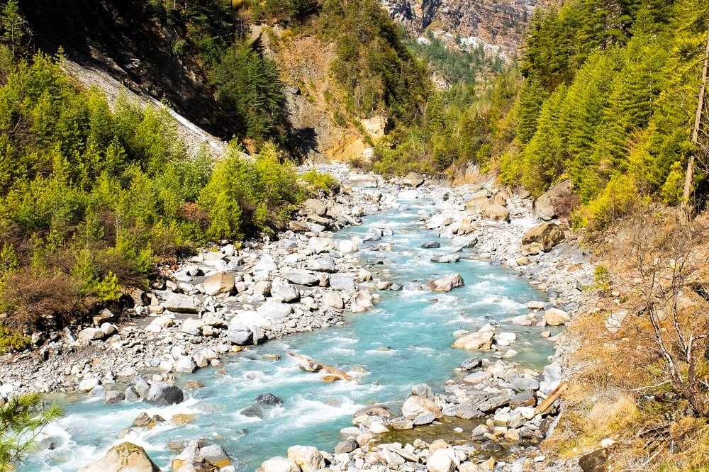 River on Annapurna Circuit