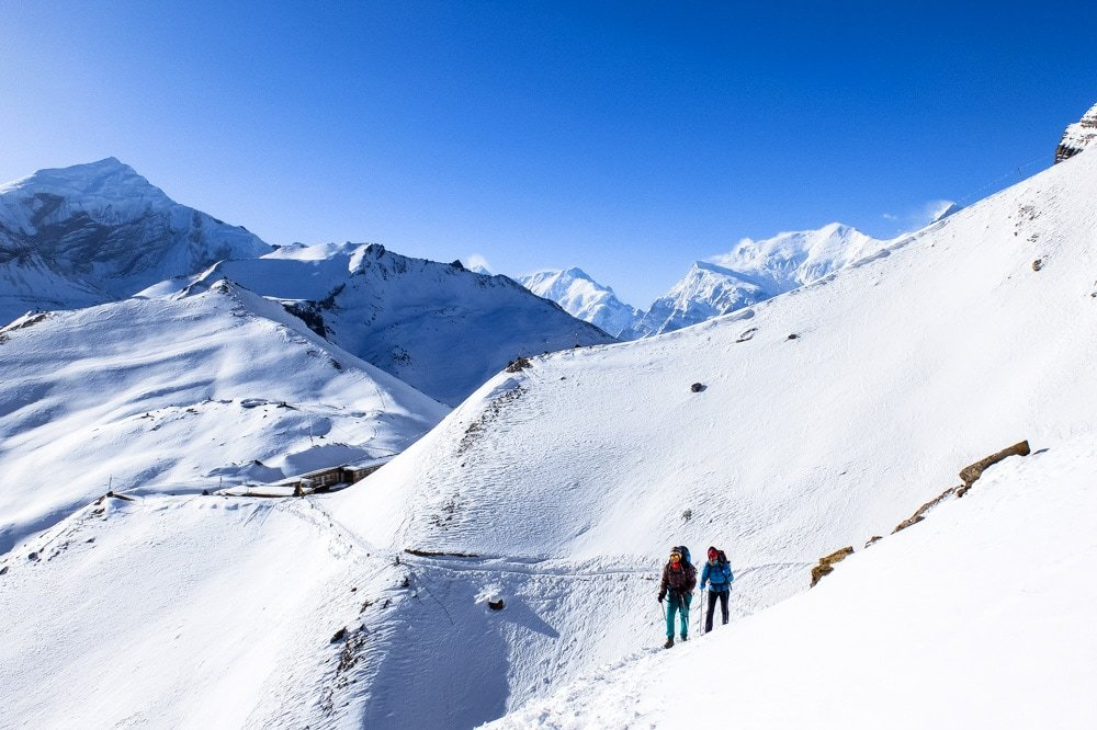 Trekking near High Camp