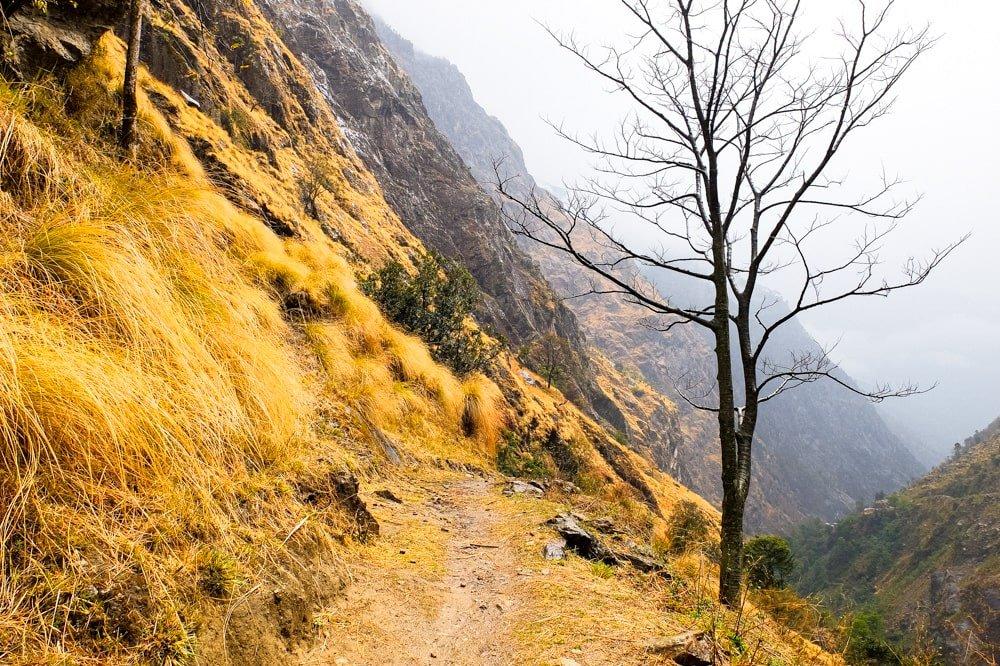 Trekking near Tal - Annapurna Circuit Photos