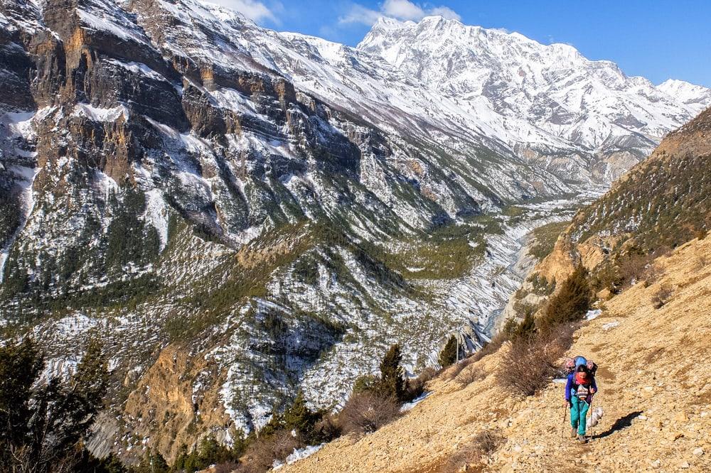 Trekking near Upper Pisang
