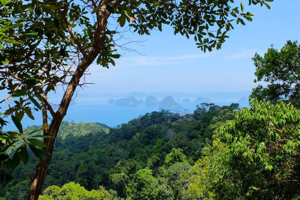 View of islands in the distance - Thailand