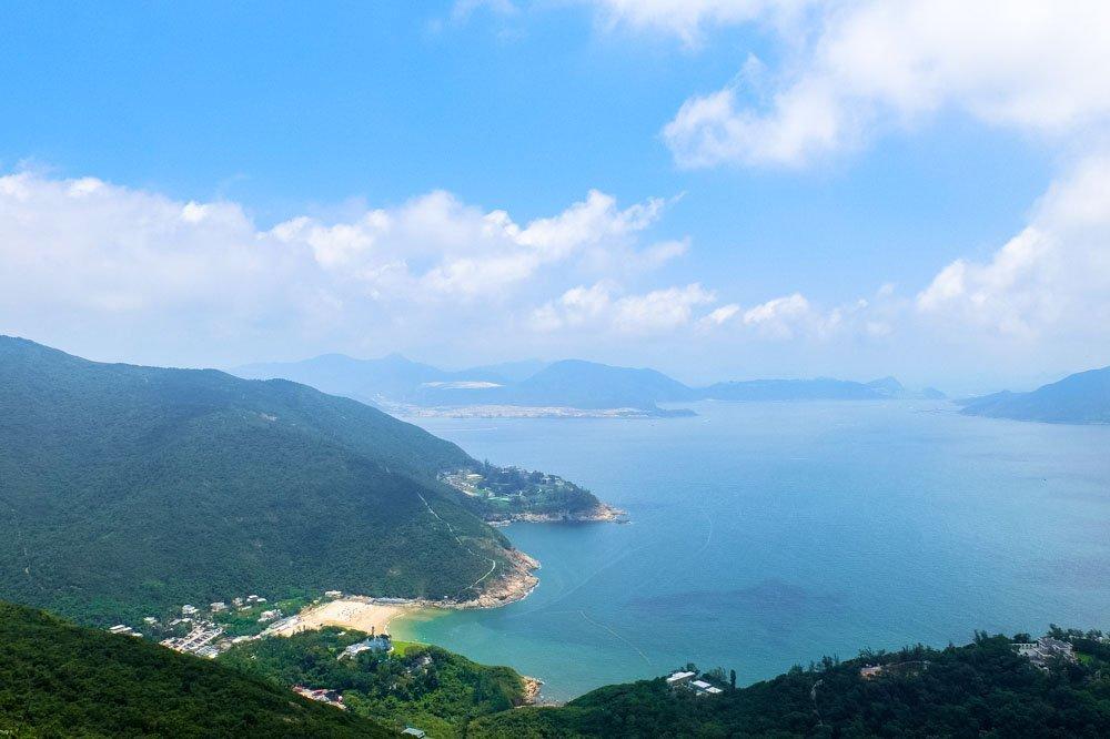 The Shek O Beach in Hong Kong