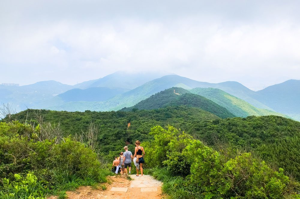 Hiking in Shek O Country Park - the Dragon's Back