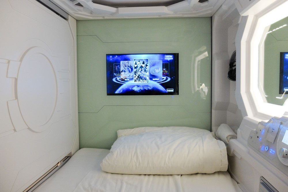 Inside the capsule - Space Hotel Chinatown