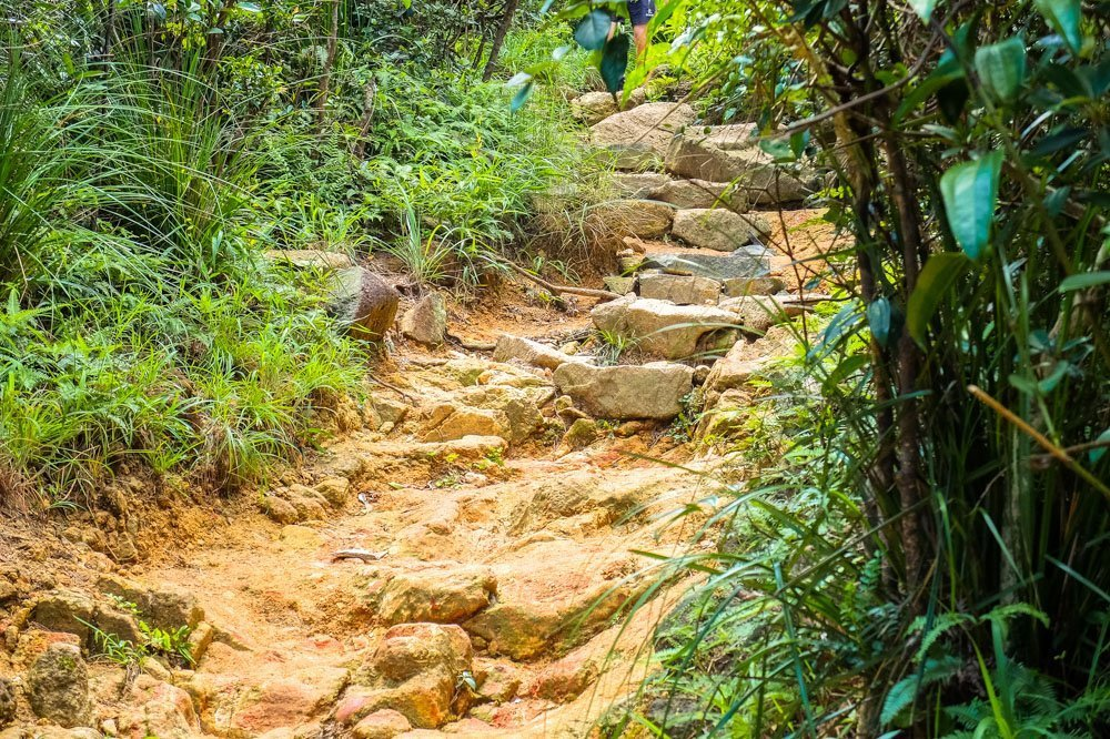 Rocky trail in Hong Kong