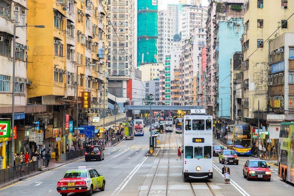 Street on Hong Kong island