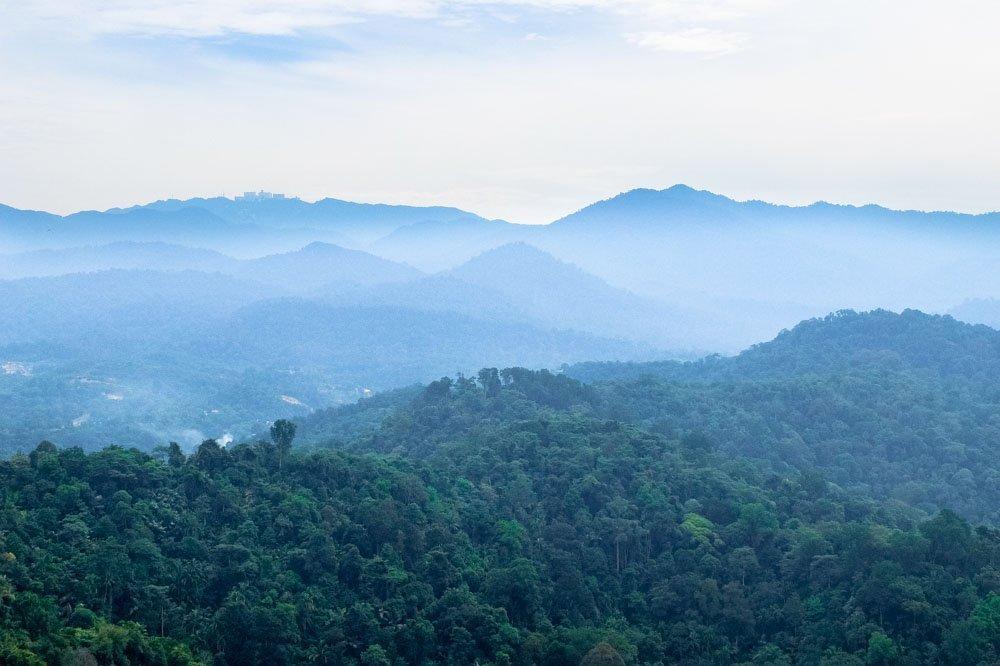 View from Bukit Tabur hiking trail