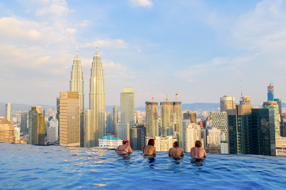 View from the FACE SUITES rooftop infinity pool