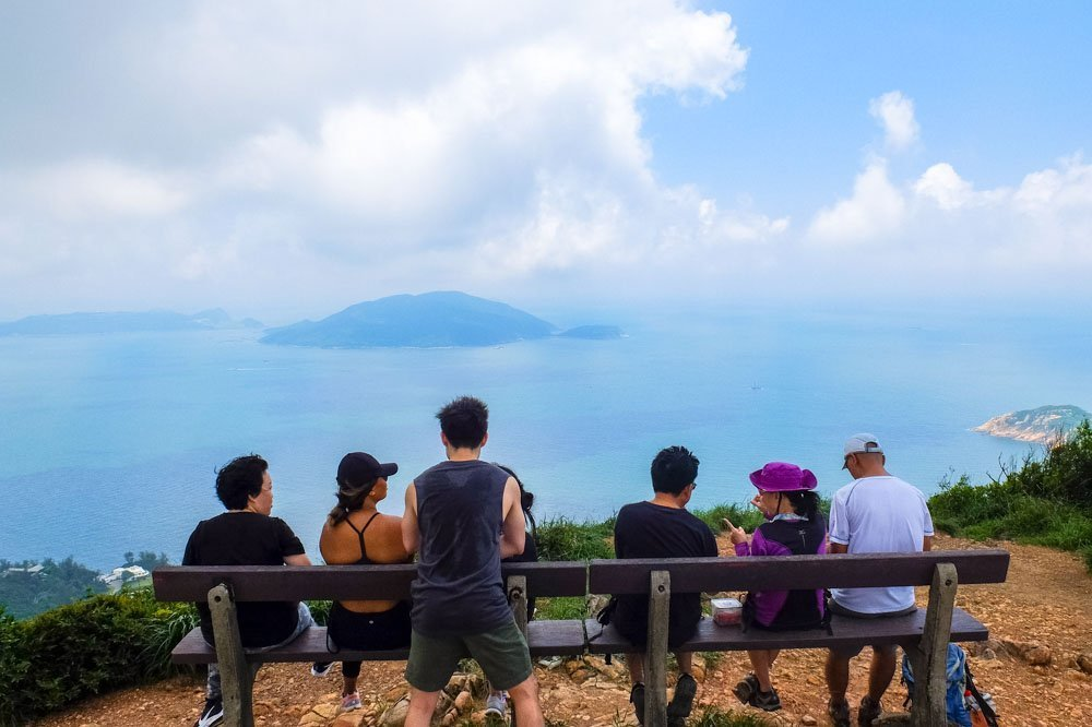 Viewpoint on the Dragon's Back Trail in Hong Kong