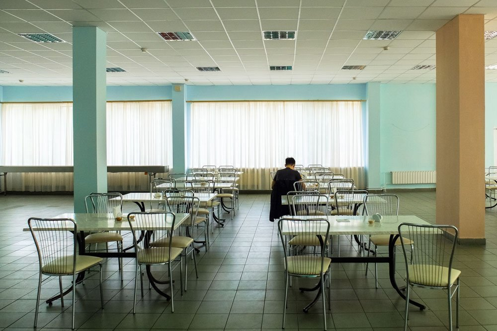 A canteen in the Chernobyl Nuclear Power Plant