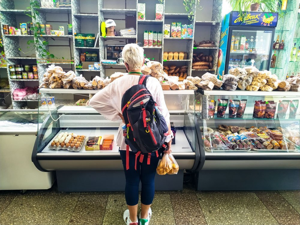 Inside a grocery store in Chernobyl town