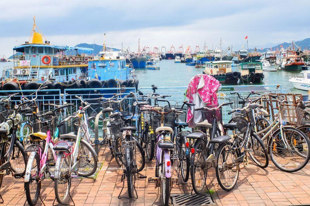 Bicycles on Cheung Chau