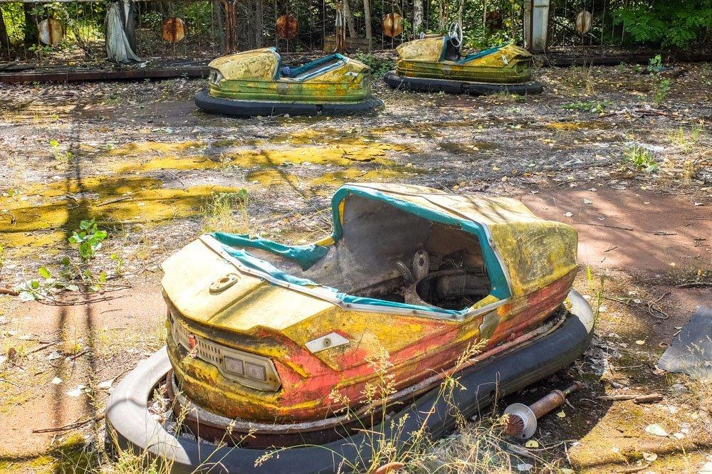 Bumping cars in Pripyat park