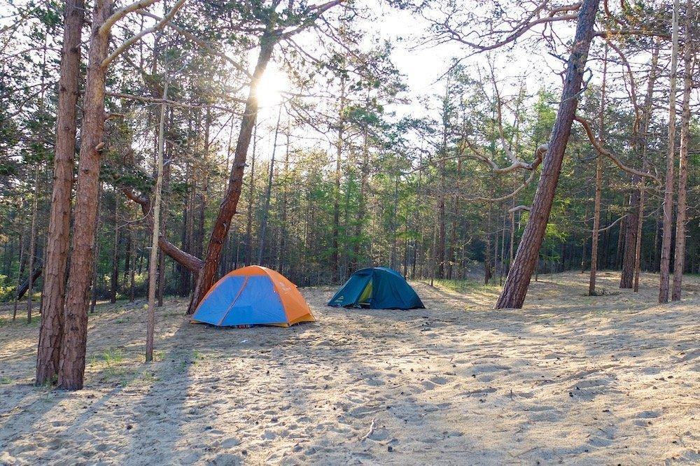 Camping in Siberia, Russia
