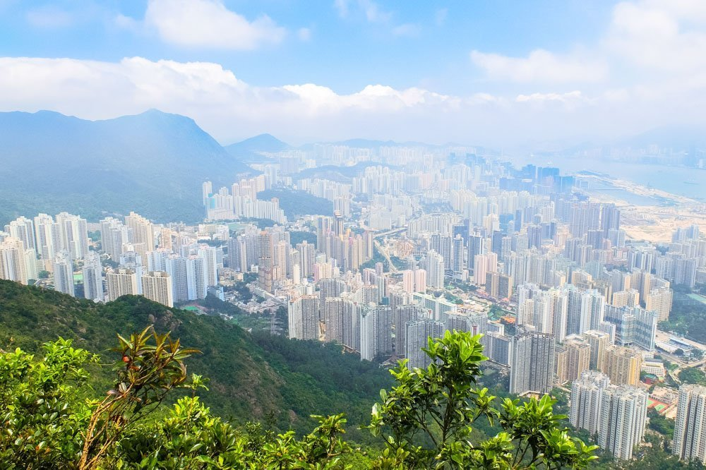 Hong Kong as seen from the mountain