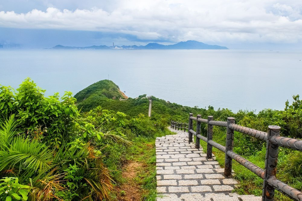 Stairs to the Tung Wan Tsai Beach