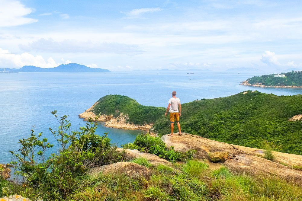 Standing on rocks on Cheung Chau Island