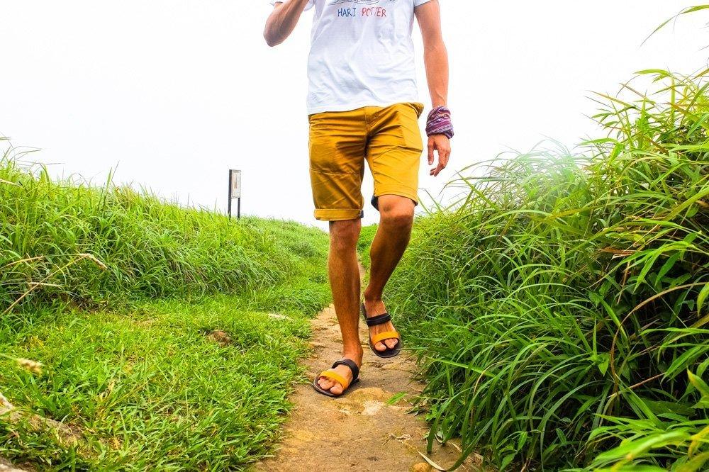 Walking in flip flops - Lantau Island