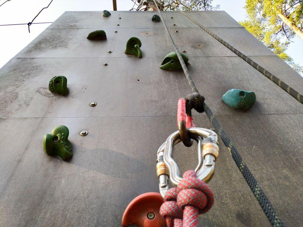 Climbing wall in Mezakakis, Riga