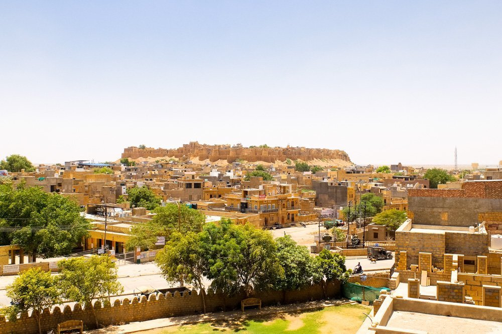 Jaisalmer fort as seen from a distance