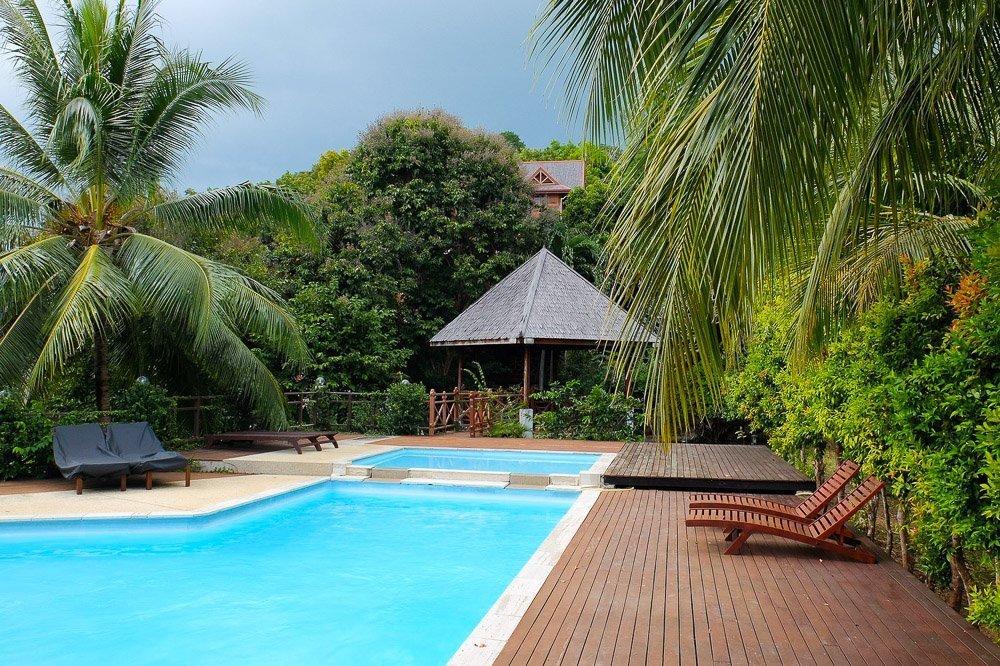 Resort pool in the jungle