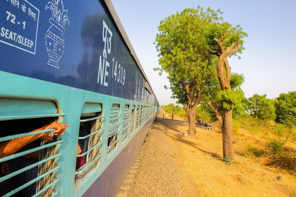 Taking a train to Jaisalmer, India