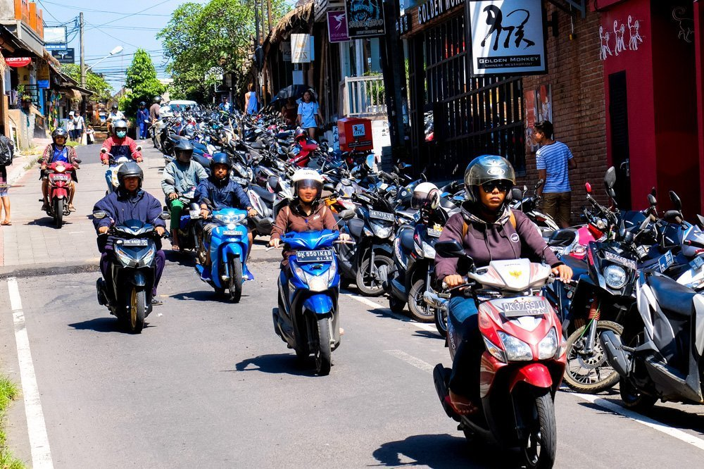 Traffic in Ubud, Bali