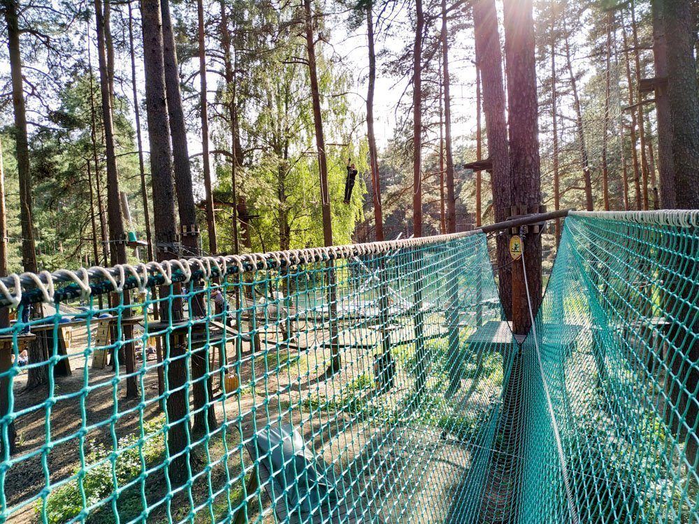 Visiting Adventure park Mezakakis in Riga