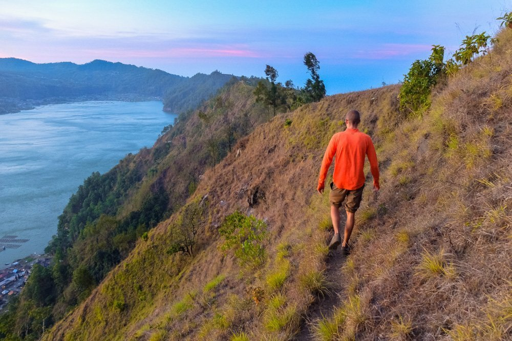 Kaspars hiking in Bali