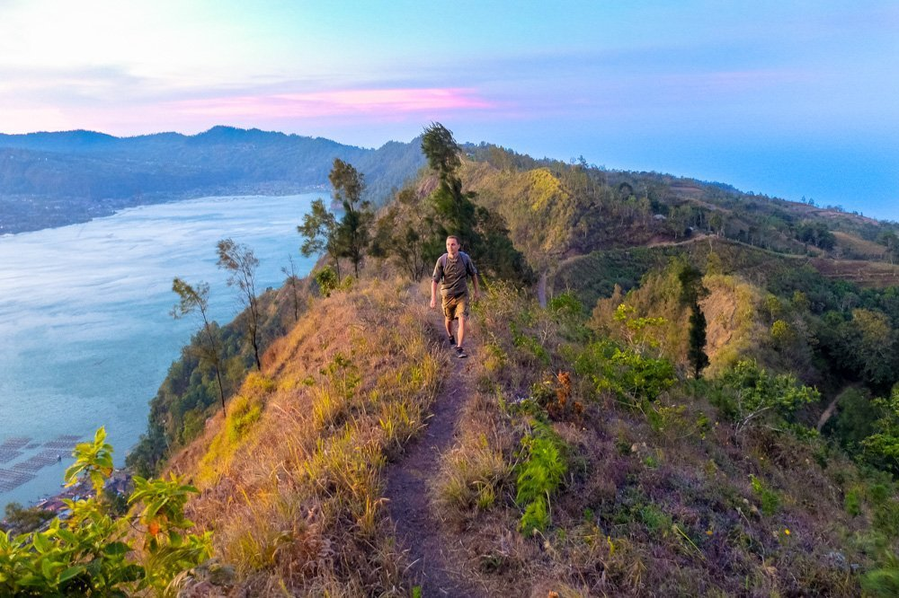 Ridge hike in Bali, near Batur lake