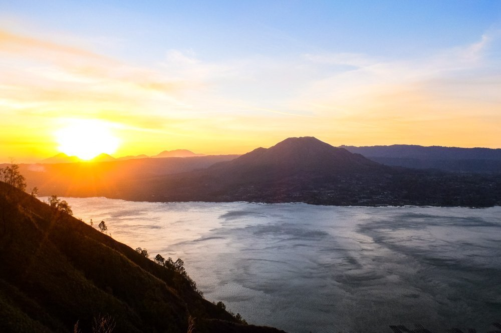 Sunset near Batur lake