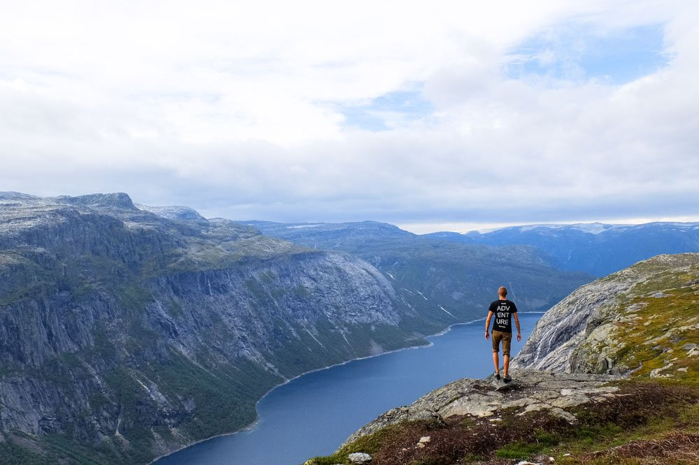 Kaspars hiking in Norway