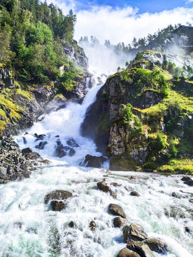 Låtefossen Waterfall Norway