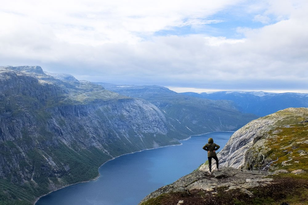 Una hiking in Norway