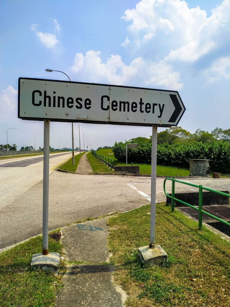 Chinese Cemetery sign
