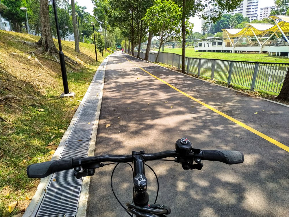 Cycling in the park in Singapore