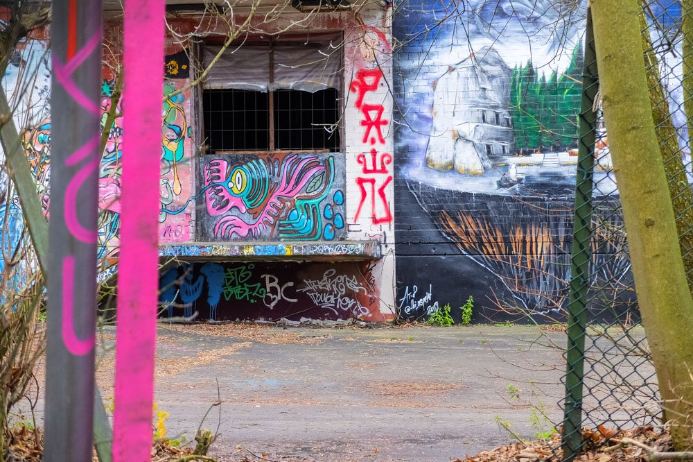 Graffiti at Teufelsberg