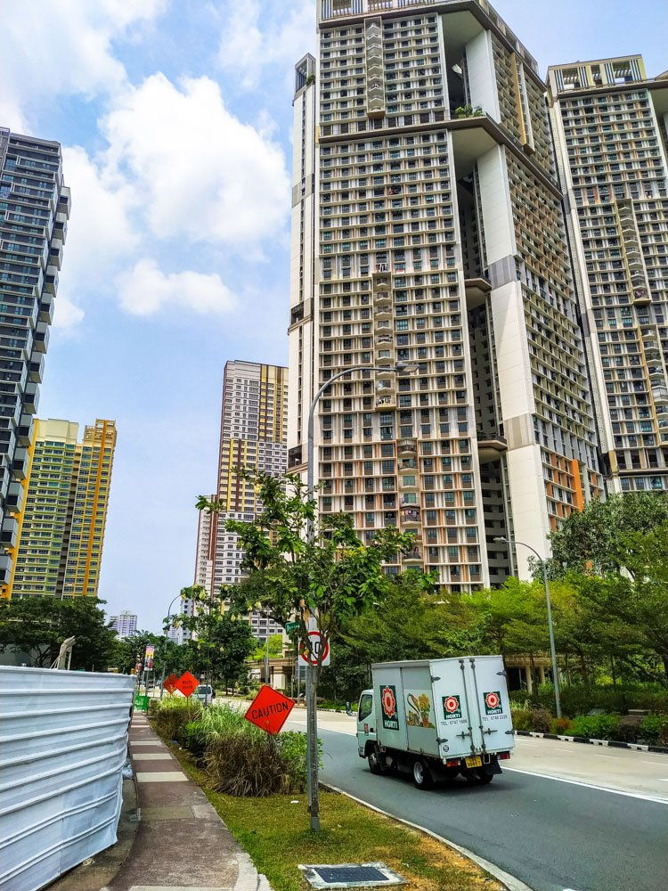 High rise buildings in Singapore
