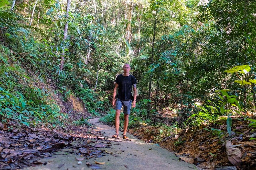 Kaspars hiking in Penang