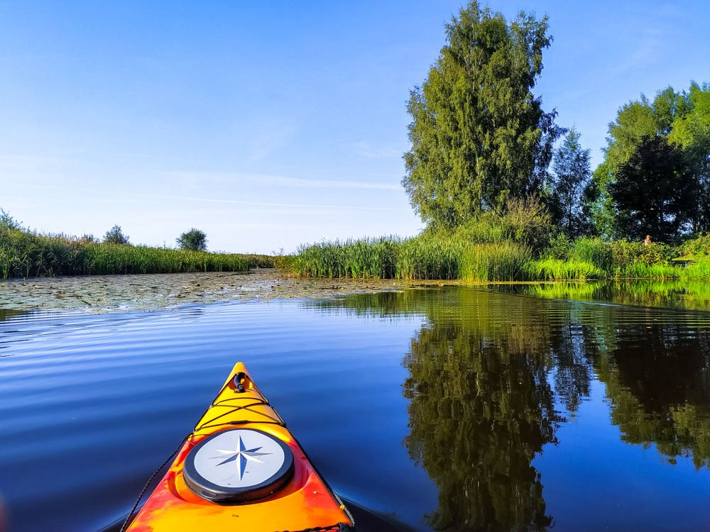 Kayaking in a peaceful place