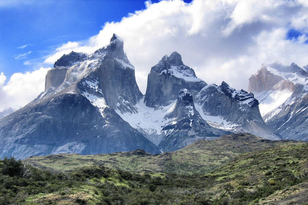 Mountain views in Torres del Paine National park, Chile, Patagonia