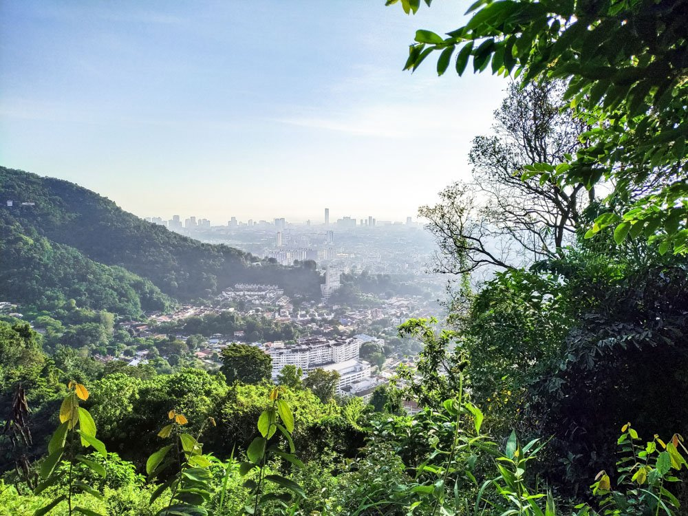 Penang hill hike view