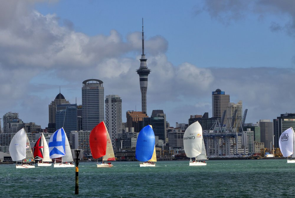 Sailing boats near Auckland, New Zealand