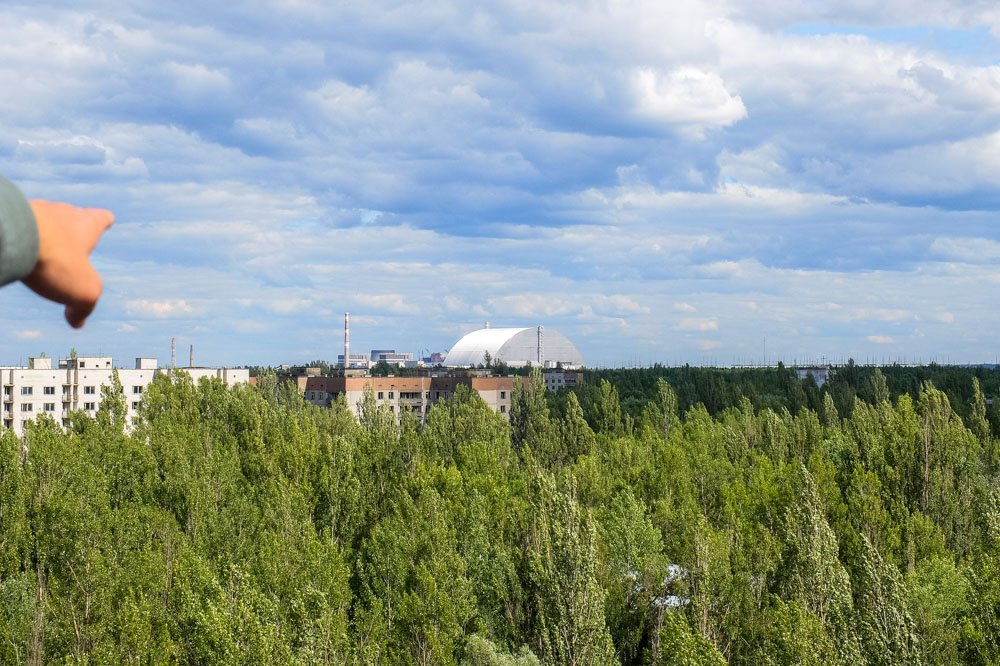 View from Pripyat, Chernobyl