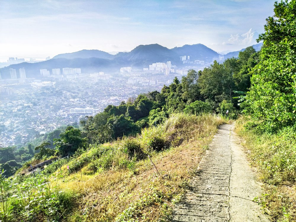 Views from the Penang hill hiking trail