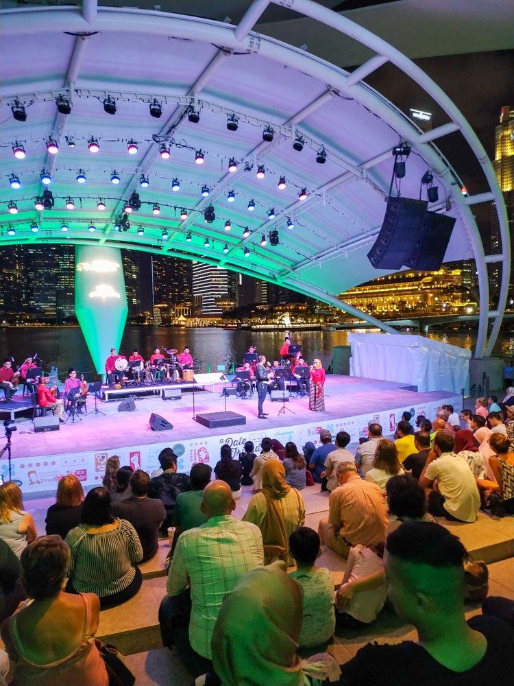 A concert at the Esplanade