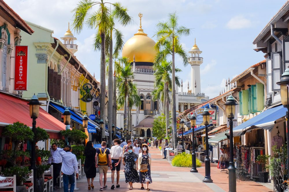 Area of Arab Street in Singapore